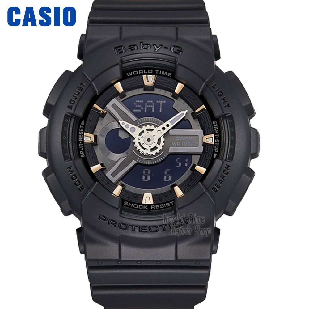 Casio watch  fashion trend cool dual-color waterproof sports electronic watch BA-110GA-1A BA-110GA-7A1 BA-110GA-8A casio watch fashion trend ms quartz watch she 4048pgl 6a