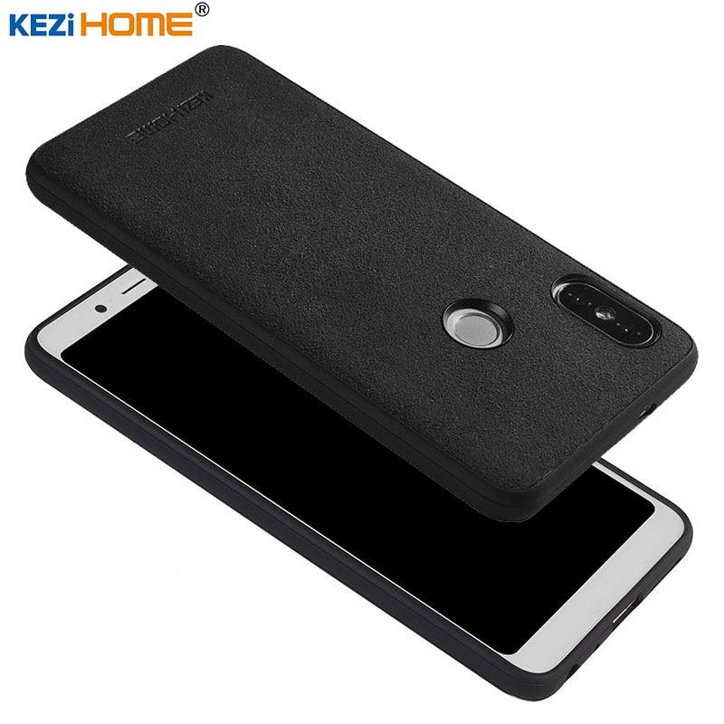 Per il caso di Xiaomi Redmi Note 5 KEZiHOME Peluche fibra superfine bordo del silicone della copertura posteriore per Xiaomi Redmi Note5 Pro 5.99 ''casi