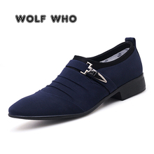 US $18.13 49% OFF|WOLF WHO Plus Size 38 48 Men Dress Shoes Classic Business Office Oxford Shoes Male 2019 New Casual British Style Man Flats X 197-in Formal Shoes from Shoes on Aliexpress.com | Alibaba Group