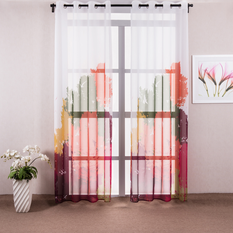 Window Tulle Door Window Curtain Drap Panel Sheer Modern Kids Window Curtain Curtains For The Bedroom Free Shipping (One Panel)