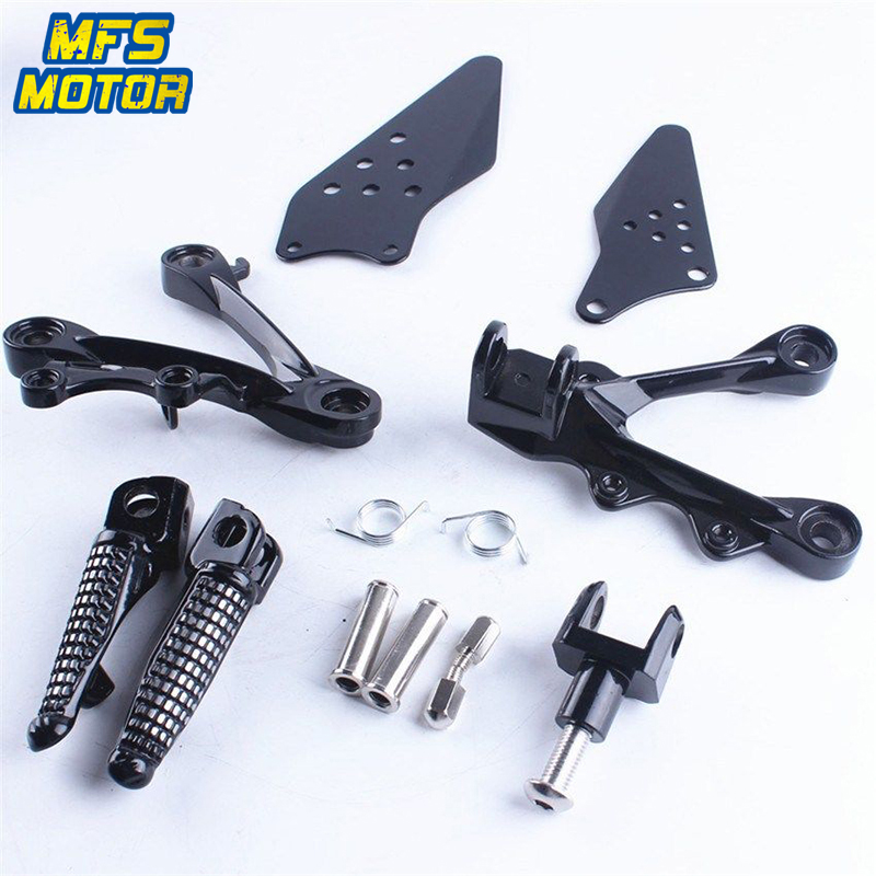 цена на For Kawasaki ZX6R ZX10R Front Rear Passenger Foot Pegs Bracket Footrests Footpegs ZX-6R ZX-10R ZX 6R 10R Foot Rests