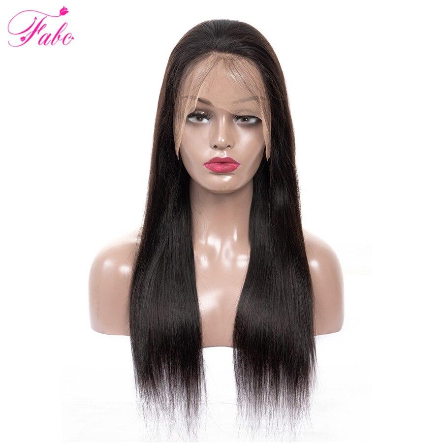 FABC 毛ブラジル 13 × 4 レースフロント人毛ウィッグ黒人女性の Remy 毛ストレートでベビーヘアーナチュラルヘアライン  グループ上の ヘアエクステンション & ウィッグ からの 人毛レースウィッグ の中 1