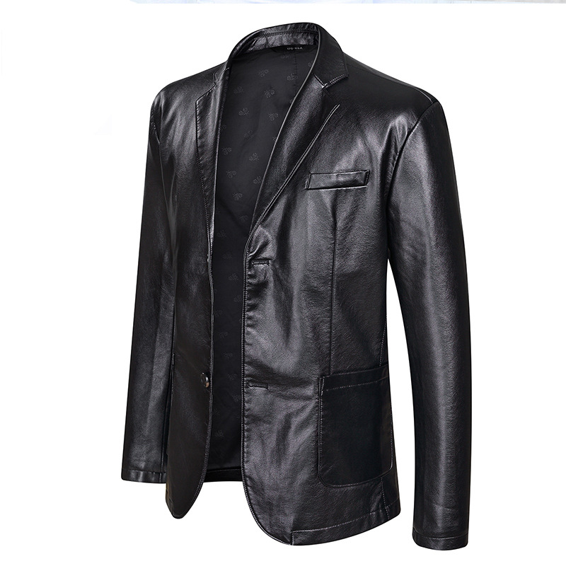 New Fashion Leather Jackets Men's Jacket Button Outwear Men's Coats 2019 Spring Autumn PU Jacket Coat Plus Size 5XL 6XL 7XL