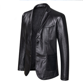 New Fashion Leather Jackets Men's Jacket Button Outwear Men's Coats 2020 Spring Autumn PU Jacket Coat Plus Size 5XL 6XL 7XL цена 2017