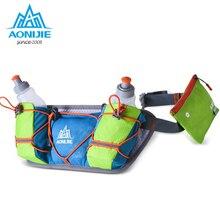 AONIJIE Men Women Waist Packs Running Hydration Belts With 2PC 250ML Bottle Holder Belt Reflective Water Pack