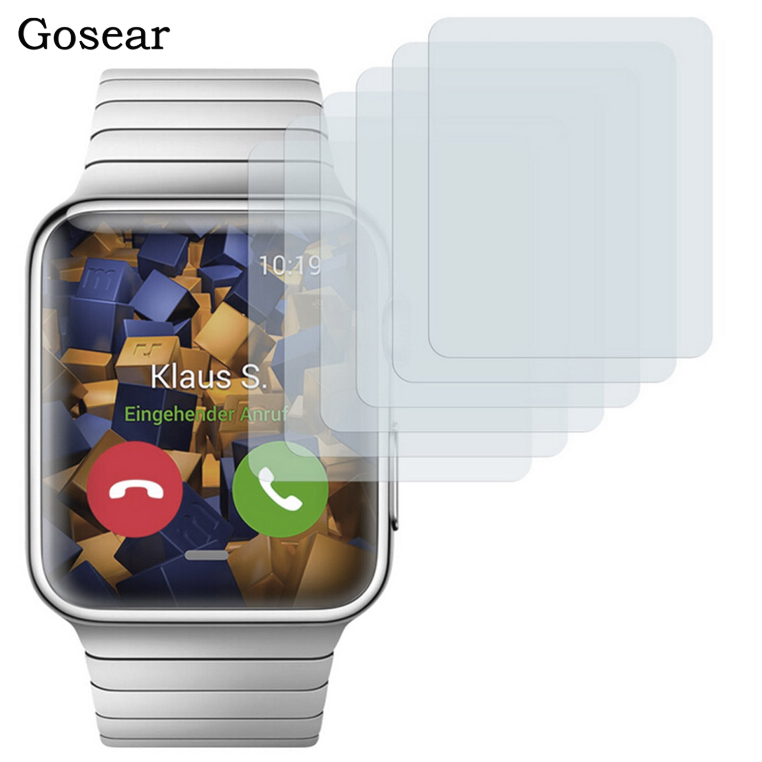 Gosear 5pcs Protective HD Screen Protector Guard Film for Apple Watch iWatch Series 1 I 38mm 42mm Accessories