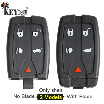 KEYECU 10x for Land Rover LR2 FreeLande 2 FCC:NT8-TX9 Replacement 4+1 5 Button Smart Remote Key Shell Case Fob No/ With Blade