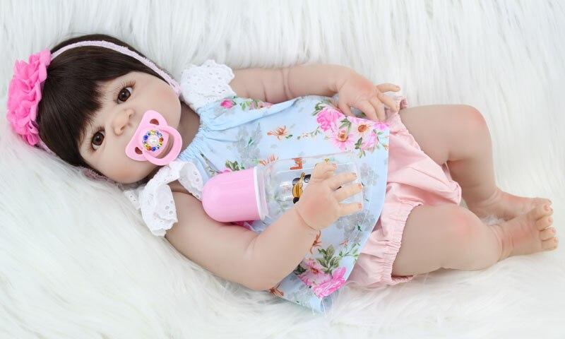 """BZDOLL 55 cm pełna silikon Reborn dziewczyna dziecko lalki 22 """"realistyczne noworodka księżniczka dzieci lalka na prezent urodzinowy kąpać zabawki w Lalki od Zabawki i hobby na  Grupa 3"""