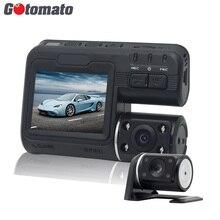 Gotomato двойной Камера DVR i1000 Full HD 1080 P Двойной объектив регистраторы видео Регистраторы 2 Камера Ночное видение Видеорегистраторы для автомобилей видеокамера i1000s