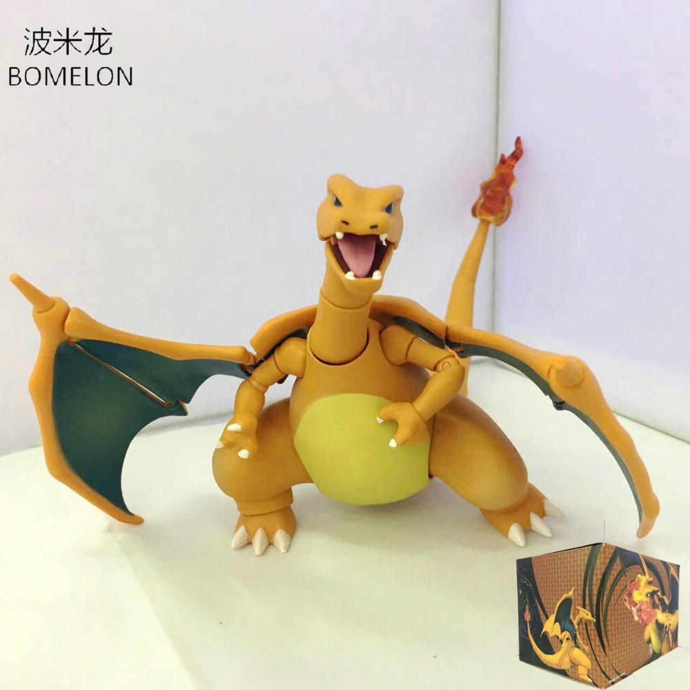 Movable Charizard Action Figure Model 13CM Jointed Dragon Doll Pocket Monster Anime Figures Boys Toys Birthday Christmas Gifts
