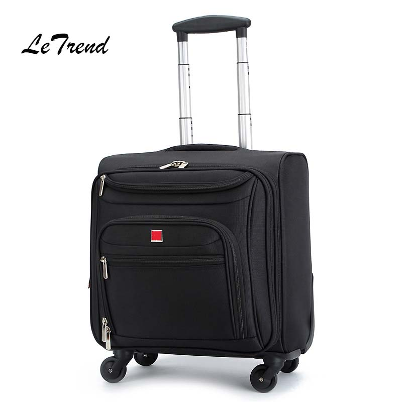где купить Multifunction Men Business Rolling Luggage Spinner Suitcases Wheels 18 inch Oxford Cabin laptop Travel Bag Trolley дешево