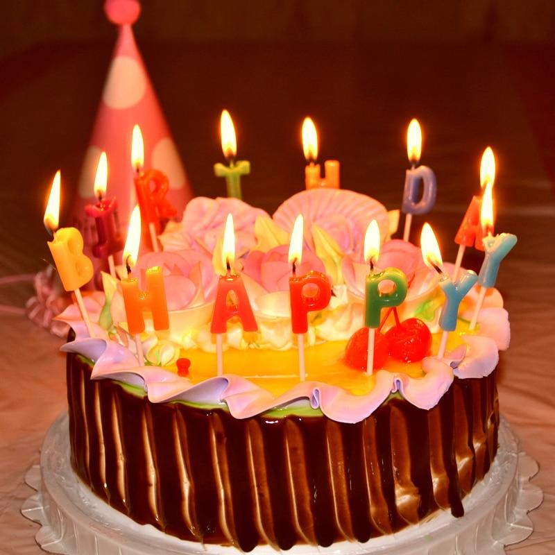 Cupcakes Cute Wallpaper 13pcs Lot Romantic Birthday Cake Happy Birthday Letter