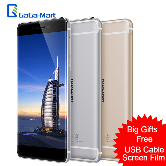 "Borderless Ulefone Future 4G Smartphone Android 6.0 MTK6755 Octa Core 4GB+32GB 5MP 16MP Fingerprint Type-C 5.5"" FHD Mobile Phone"