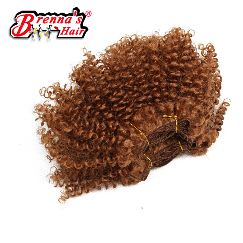 Eunice Synthetic Ombre Hair 1b/bug African Women Style Afro Kinky Curly Synthetic Hair Weave Bundles 3pieces/lot 8 Inch Convenient To Cook Hair Extensions & Wigs Hair Braids