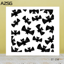 Halloween/Black bats Transparent Silicone Stamp for DIY Scrapbooking/Photo Album Decorative Card Making Clear Stamps Supplies
