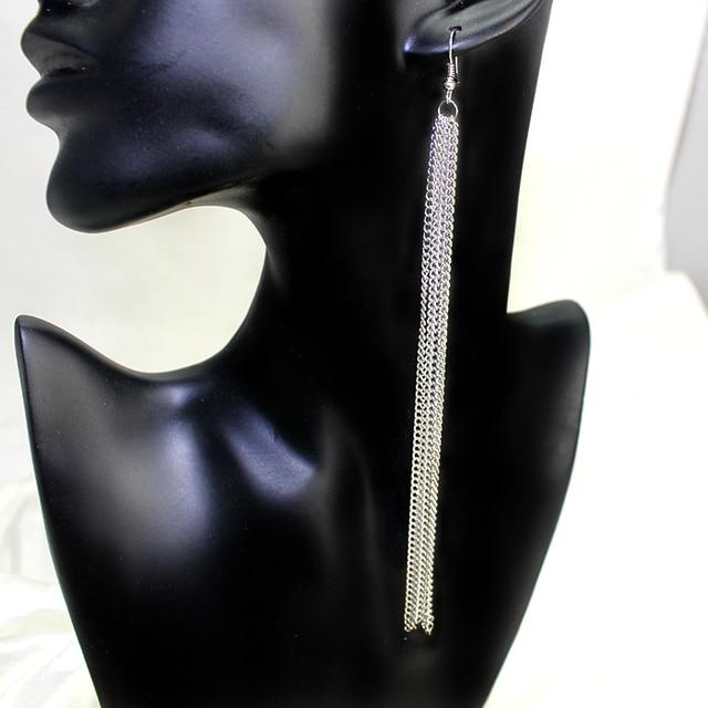Fashion Multilayer Tassel Earrings For Women Long Earrings Gold&Silver-Plated Jewelry Earrings Brincos Earrings Tassels Dangle