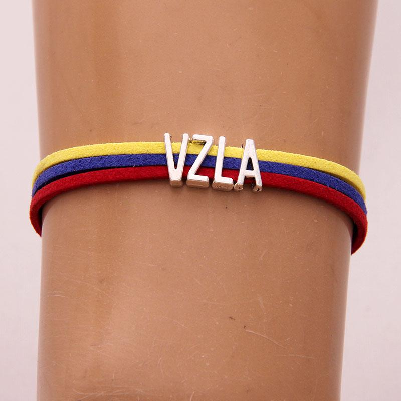 8369323dfc7d (10 unids lote) infinity Love Venezuela pulsera corazón charm brazalete de  cuerda y