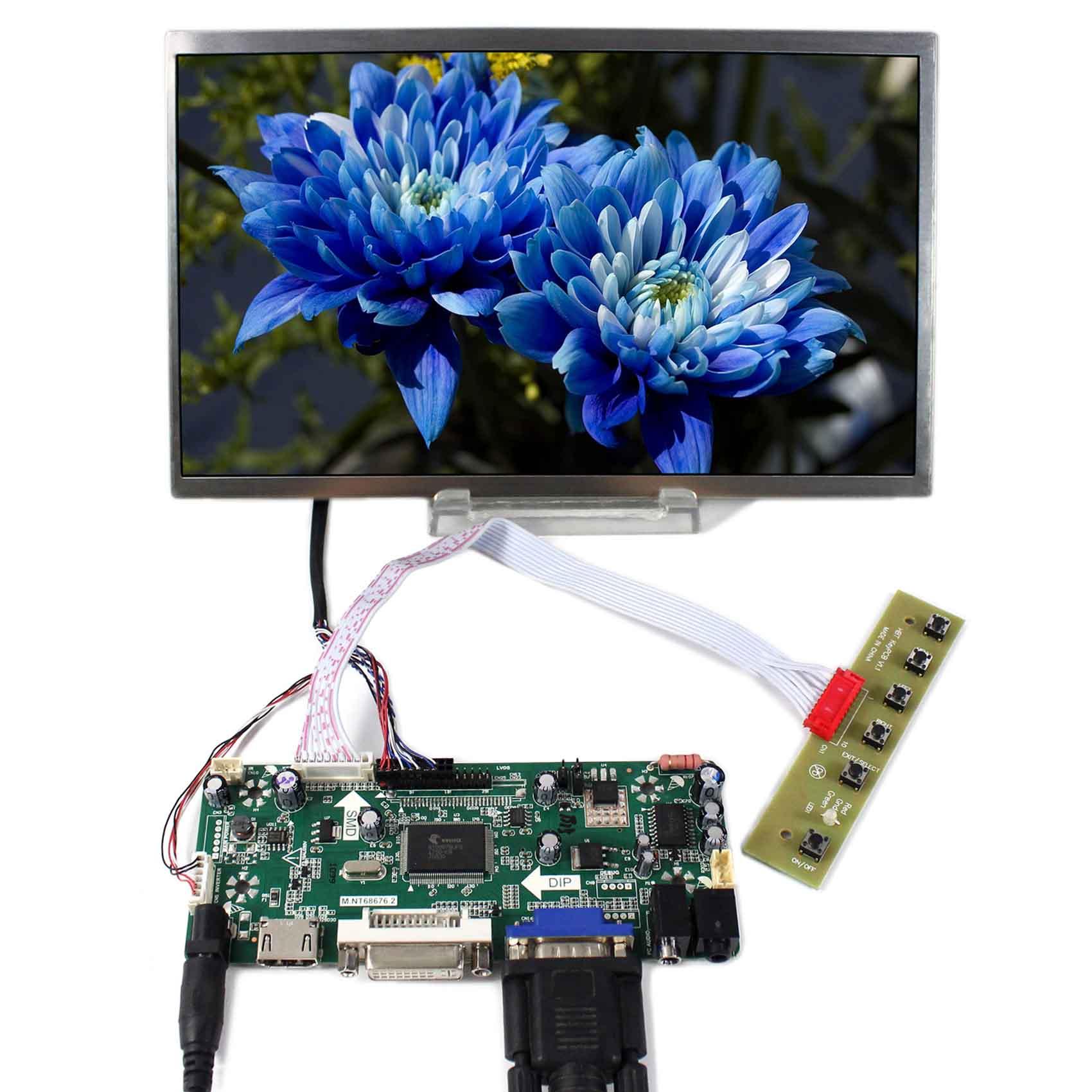 10.1inch B101AW03 1024x600 LCD Screen+HDMI DVI VGA LCD Controller Board M.NT68676 hdmi dvi vga lcd controller board 8 9 1024x600 n089l6 lp089ws1 b089aw01 lcd screen