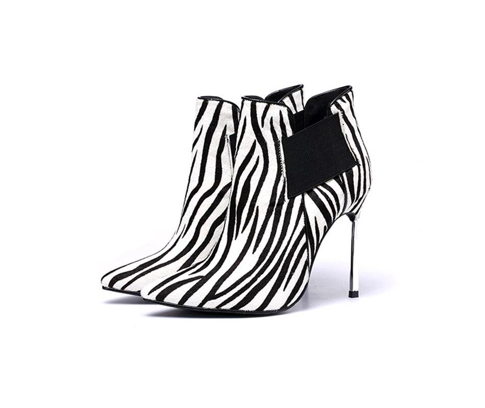 Picture Slip Imprimé Daim Sexy Picture D'hiver Sur Léopard as Métal Femmes Bout Fétiche Chaussures Les Mince Cheville Bottes En Talon As Pointu AYBw7HYqS