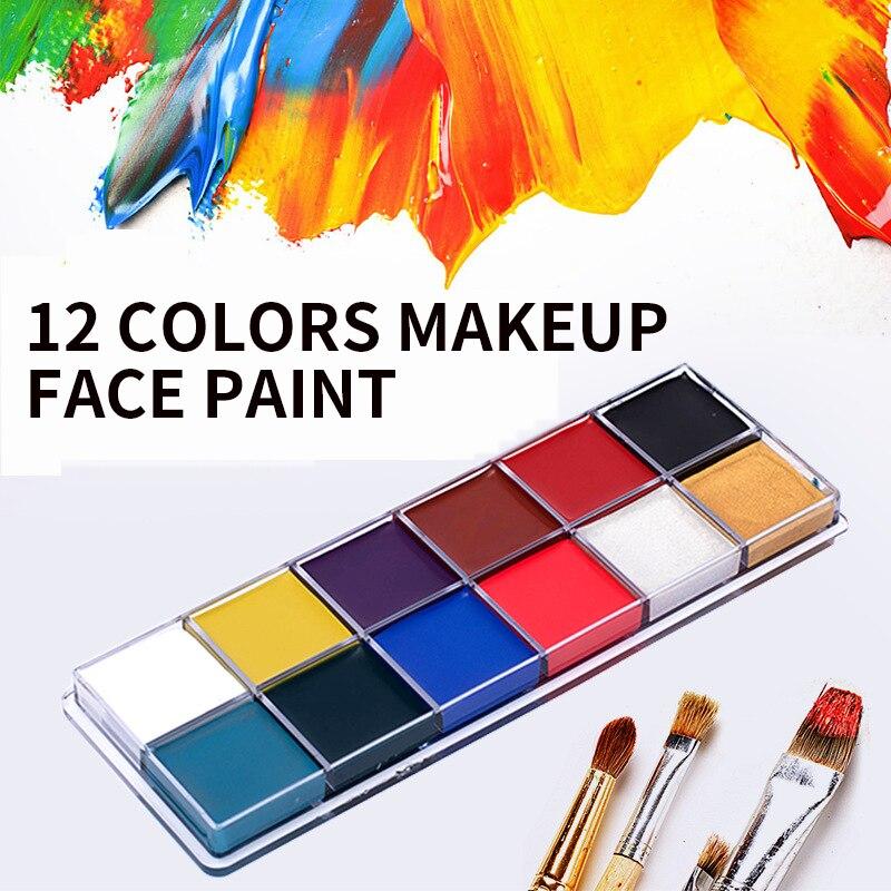 12 couleurs corps peinture maquillage visage peinture jouer Clown Halloween corps visage peinture12 couleurs corps peinture maquillage visage peinture jouer Clown Halloween corps visage peinture