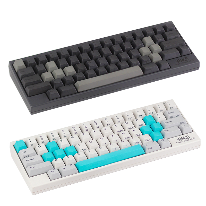 set for ESC W A S D or  E S D F and arrow keys spacebar Topre realforce hhkb keyboard keycaps multicolour cap pbt material  holographic belt purse