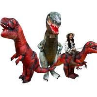 3 Style Giant Inflatable Tyrannosaurus Halloween Costume Deluxe Dinosaur T REX Costume Purim Party Scary Costume for Adults Kids