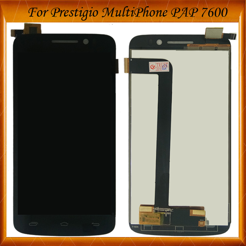 100% Tested OK For Prestigio MultiPhone PAP 7600 DUO Pap7600 PAP7600duo LCD Display Screen With Touch Screen Digitizer Assembly