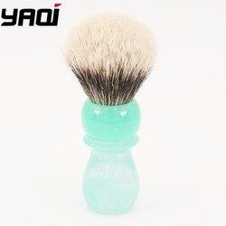 Yaqi 24MM Yaqi lago de montaña dos bandas tejón nudo brochas de afeitar