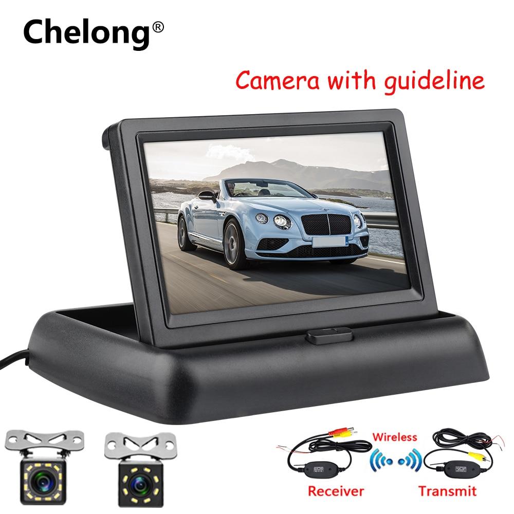 Caméra de recul de Parking   Kit de système de recul de Parking, écran TFT LCD de 4.3 pouces, caméra de sauvegarde de Vision nocturne