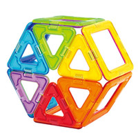 Kids Toys 34Pcs 46Pcs Magformers Enlighten Bricks Educational Magnetic Designer Toy Square Triangle 3D DIY Building