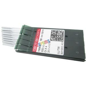 Image 2 - 20 PCS Groz בקרט 332LL 29X4NTW DIX4 עור מחטי fit עבור הזמר 29 4, 29 K מכונות