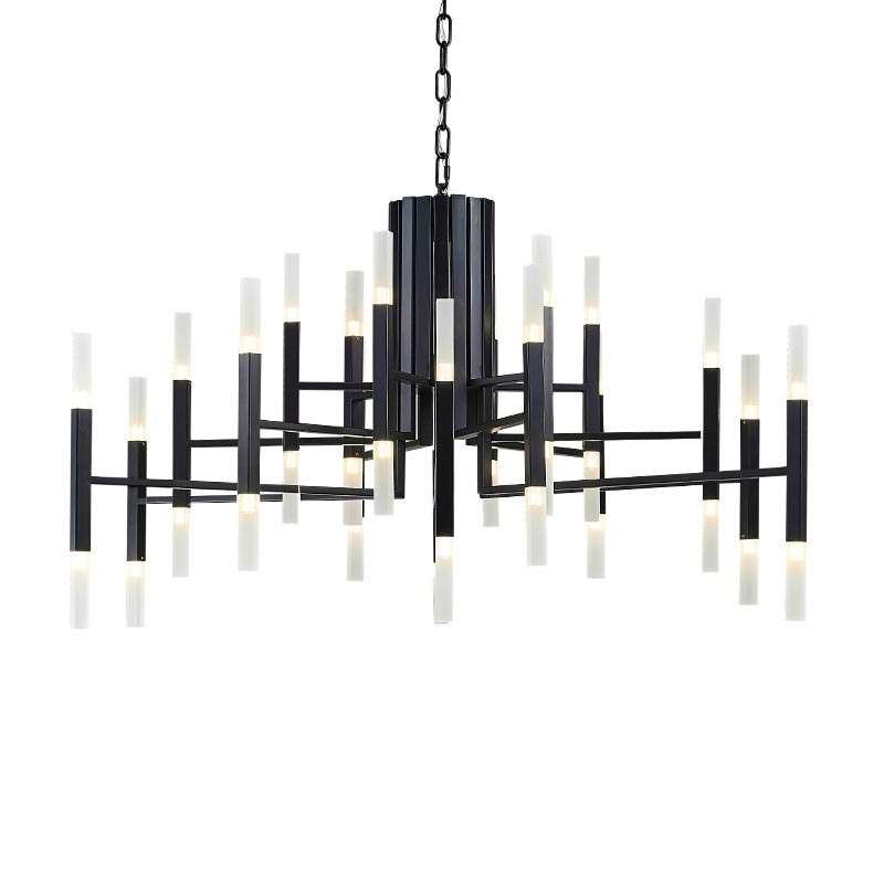 Современные 24/36/60 двойной головок гладить акриловые подвесной светильник Led Nordic Креативный дизайнер G4 подвесной светильник для гостиная