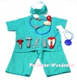 XMAS Christmas Gift 10PC Doctor Nurse Surgery Surgeon Operation Costume Set 3-8Y