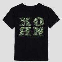 Mens T Shirts Fashion 2017 Korn Printing Metal Rock Band Logo Graphic T Shirt Men O