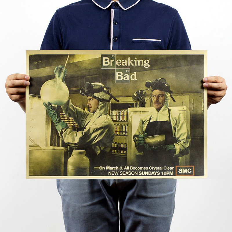 Free shipping,Breaking Bad/b stylr/American TV Series classic /kraft paper/bar poster/Retro Poster/decorative painting 51x35.5cm