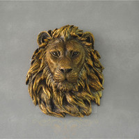Wall decorations, lion head, wall hanging, retro European style, simple wall decoration gifts
