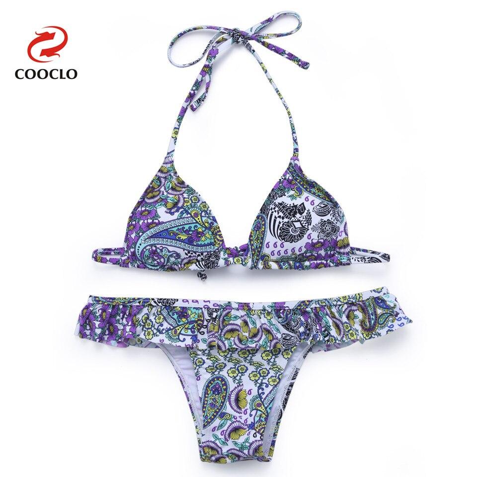 ₩Cooclo 2018 nuevo bikini set vintage retro bañadores mujeres traje ...