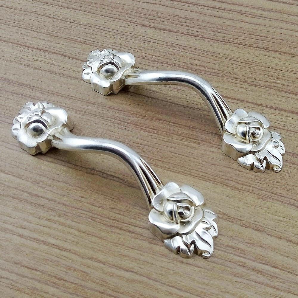 Maniglie X Mobili Da Cucina us $2.47 17% di sconto|argento antico rosa fiori ferramenta per mobili  maniglie mobili da cucina piccola porta del cassetto armadio armadio pull