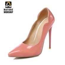 Patent Leather women shoes fashion 12cm 10cm high heel pump lady party Spring/Autumn Elegant Mature sexy women pointed toe pumps