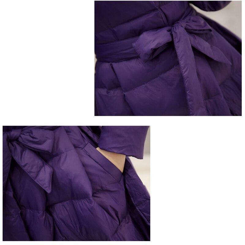 Coton Mode Femelle Mince Vêtements Hiver Couleur Mediun Solide purple Épaissir Survêtement Long De Black Parkas Veste Nouveau Dd297 Atx6R6dwq