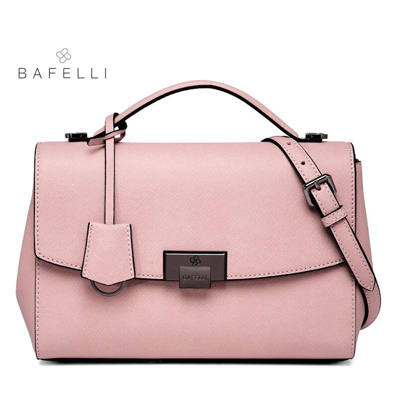 BAFELLI split leather shoulder bag Large capacity for women crossbody bolsa mujer luxury women handbags red messenger bag цена и фото