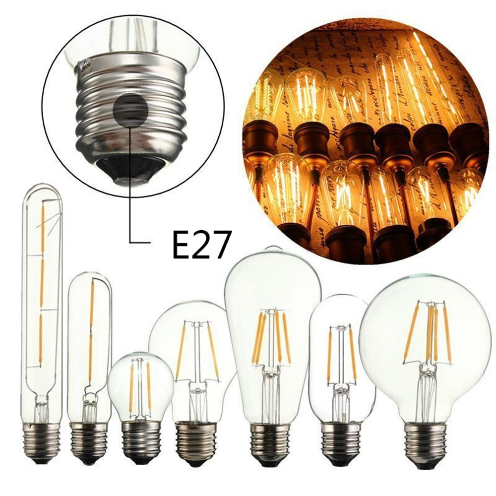 e14 e27 vintage edison led cob filament decor lamps warm. Black Bedroom Furniture Sets. Home Design Ideas