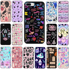 Girly Pastel Witch Goth Soft TPU Silicone phone cover case for