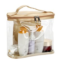 Multi-purpose Storage Bag Travel Transparent Cases Box Luggage Towel Suitcase Pouch Zip Bra Cosmetics Underwear Organizer(China)