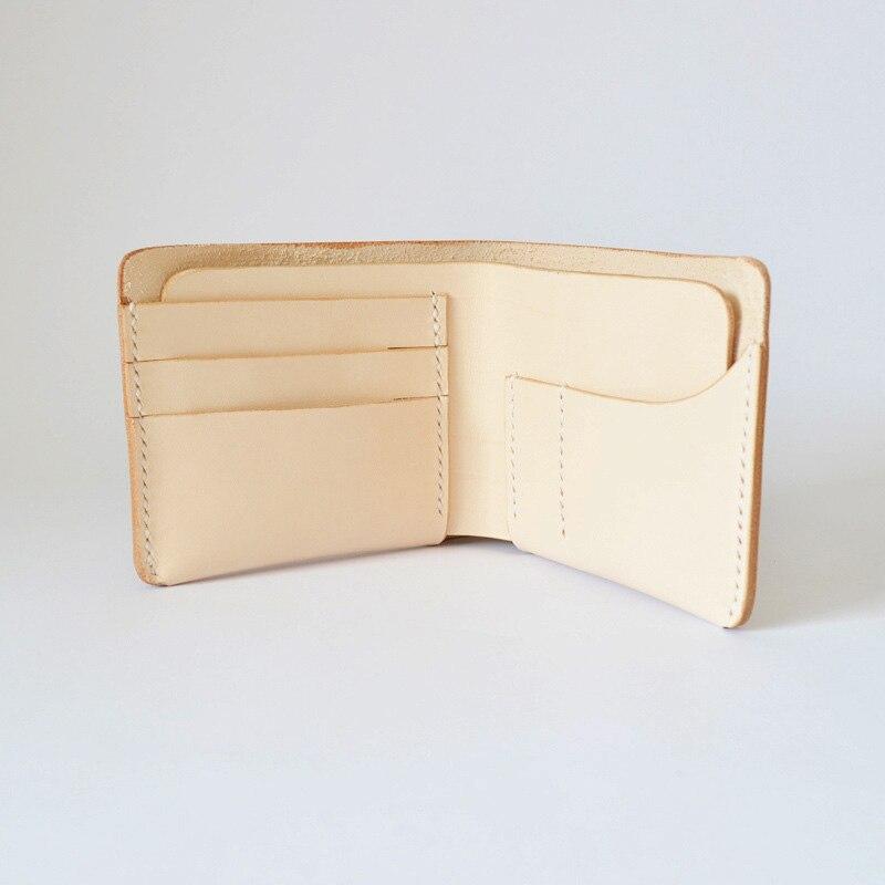 Slim Wallet Female Genuine Leather Women Wallet For Credit Cards Solid Short Purse Handmade Designer 100