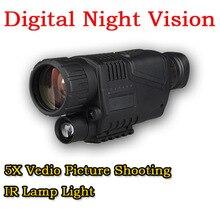 Tactical 5X Zoom infrarrojos cámara Digital Vedio foto videorodaje visión nocturna Monocular alcance para 200 M caza exterior CL27-0012