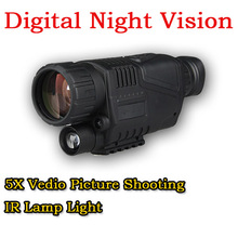 Tactical 5X Zoom Infrared Digital Camera Vedio Picture Shooting Night Vision Monocular Scope For 200M Outdoor Hunting CL27-0012