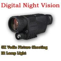 Taktische 5X Zoom Infrarot Digitalkamera Vedio Bild Schießen Nachtsichtgerät Umfang Für 200 Mt Outdoor Jagd HS27-0012