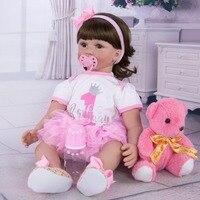 Exquisite handmade doll Silicone Reborn Baby Realistic Newborn Bebe Alive reborn dolls 60 cm Children Birthday Gift Girls Toy