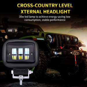Image 2 - GZKAFOLEE lights led bar Work Light beam offroad 30W 3000LM 12V 24V for jeep niva 4x4 atv SUV motorcycles Truck